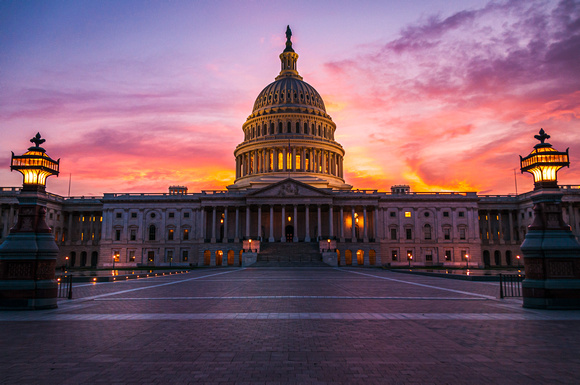The Capital Building at Sunset